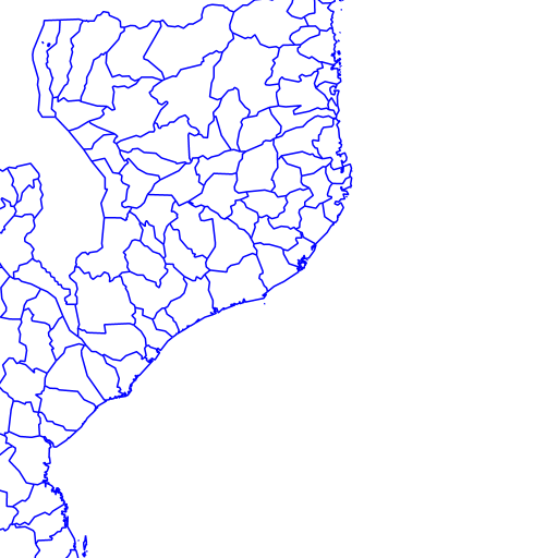 District Boundaries, Mozambique, 2007 - NYU Spatial Data Repository