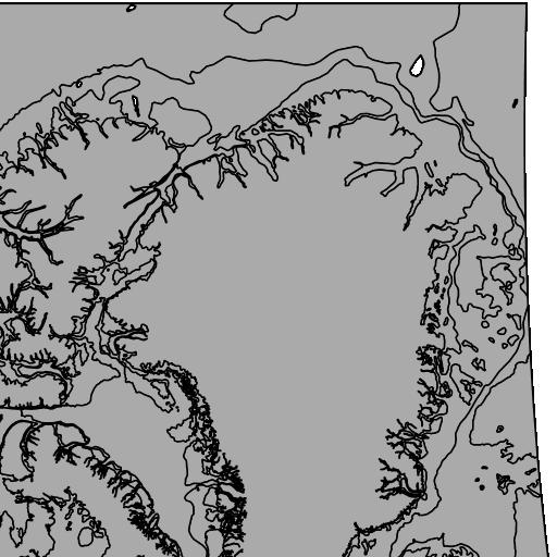 North American Atlas - Bathymetry (Polygons) - Digital Maps