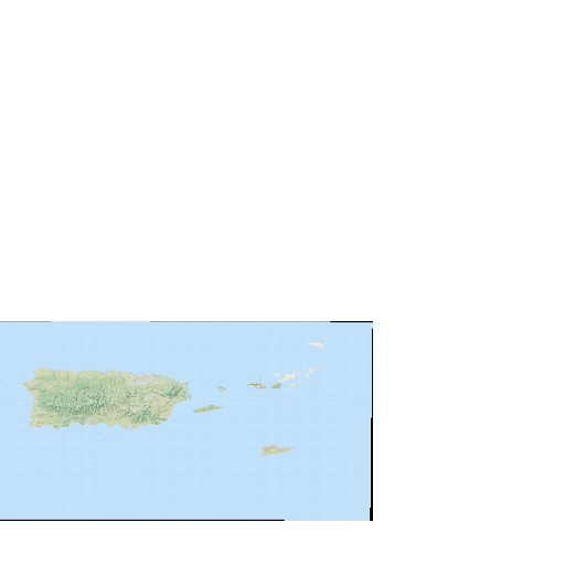 100-Meter Resolution Natural Earth of Puerto Rico and the U S